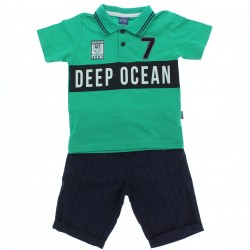 Conjunto Alakazoo Infantil  Polo Estampa Deep Ocean 28862
