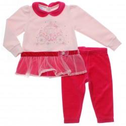 Conjunto Bebê Paraíso Menina Calça Blusa Carruagem Strass 31141