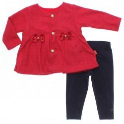Conjunto Bebê Paraíso Menina Calça Casaco Tricot Laços 31142