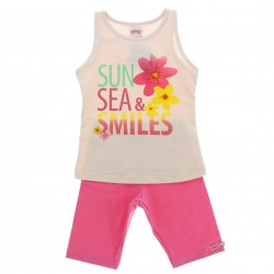 Conjunto Bermuda Alakazoo Menina Estampa Sun Flores 28817