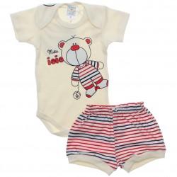 Conjunto Body e Shorts Bebê Petutinha Menino Iôiô 30479