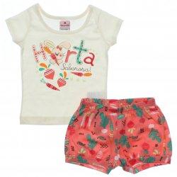 Conjunto Brandili Bebê Menina Shorts Horta Saborosa 31431