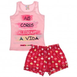 Conjunto Brandili Club Infantil Menina Cores Alegram 30670