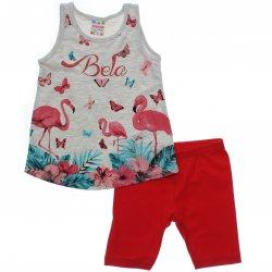 Conjunto Brandili Club Infantil Menina Estampa Bela 31545