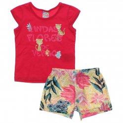 Conjunto Brandili Club Infantil Menina Lindas Flores 31441