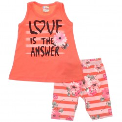 Conjunto Brandili Club Infantil Menina Love Is Answer 29911