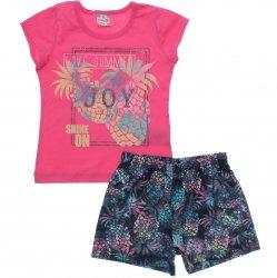 Conjunto Brandili Club Infantil Menina Love Summer Abacaxi 31560