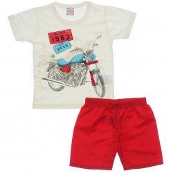 Conjunto Brandili Club Infantil Menino Estampa Moto 31546