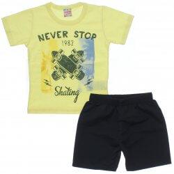 Conjunto Brandili Club Infantil Menino Never Stop Skate 31549