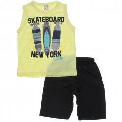 Conjunto Brandili Club Infantil Menino Regata Skateboard 31456