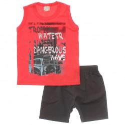 Conjunto Brandili Club Infantil Menino Tropical Skate 29942