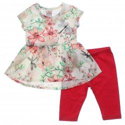 Conjunto Brandili Infantil Menina Capri e Mini Vesti Floral 31432
