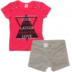 Conjunto Brandili Infantil Menina Live Laugh Love 29962