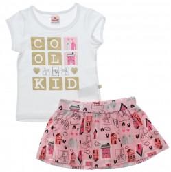 Conjunto Brandili Infantil Menina Short Saia Cool Kid 30655