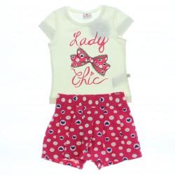 Conjunto Brandili Infantil Menina Short-Saia Estampa Laddy