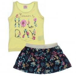 Conjunto Brandili Infantil Menina Short Saia Holiday 31552