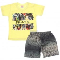 Conjunto Brandili Infantil Menino Skate Asfalto 29906
