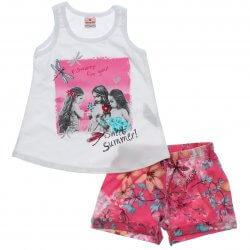 Conjunto Brandili Infanto Juvenil Menina Quadro Sweet Summer 31447
