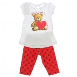 Conjunto Capri Alakazoo Menina  Estampa Urso Coração 28799