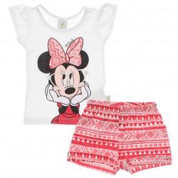 Conjunto Disney Minnie Bebê Estampa Óculos Metalizado 29991