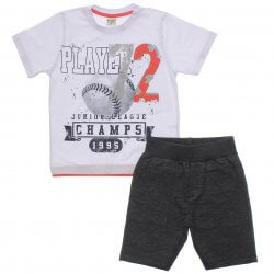 Conjunto Have Fun Infantil Menino Camiseta Player Moletinho 31714