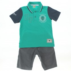 Conjunto Have Fun Infantil Menino Polo Estampa College 29050