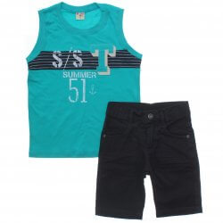 Conjunto Have Fun Infantil Menino Regata Summer Sarja 31713