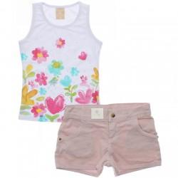 Conjunto Infantil Coloritta Menina Flores Termocolantes 3010