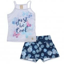 Conjunto Infantil Colorittá Shorts Poas e Blusa Just Be Cool 31604