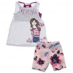 Conjunto Infantil Have Fun Menina 3 Peças Blusa Strass e Top 31733