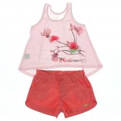 Conjunto Infantil Have Fun Menina Bata Aplique Flor 29263