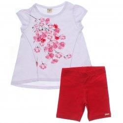 Conjunto Infantil Have Fun Menina Flores Organza Pérola 31732