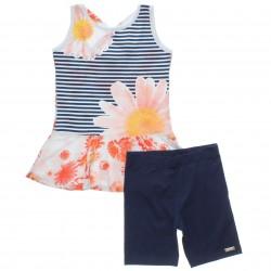 Conjunto Infantil Have Fun Menina Regata Barrado Floral 30714