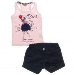 Conjunto Infantil Have Fun Menina Regata Paris Tule 30715