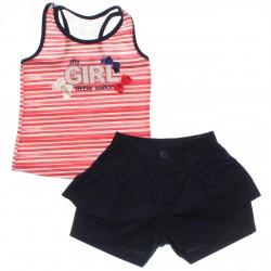 Conjunto Infantil Have Fun Menina Regata Renda Girls 30193