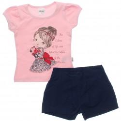 Conjunto Infantil Menina Elian Bonequinha Flowers 30600