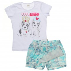 Conjunto Infantil Menina Elian Cool Pet Cachorros 30789