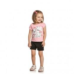 Conjunto Infantil Menina Elian Estampa Ursinhos Coração 3001