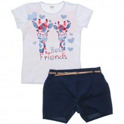 Conjunto Infantil Menina Elian Girafas Best Friends 30791