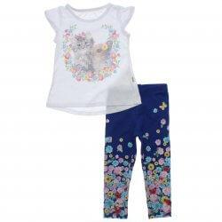 Conjunto Infantil Menina Elian Legging Floral e Gatinha Coelho 31465