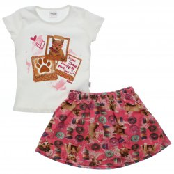 Conjunto Infantil Menina Elian Saia Shorts Estampa Doces 31577