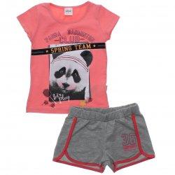 Conjunto Infantil Menina Elian Shorts Blusa Panda 31537