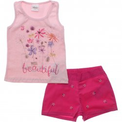 Conjunto Infantil Menina Elian Shorts Bordado Beaultiful 31575