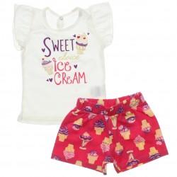 Conjunto Infantil Menina Elian Sweet Ice Cream 30580
