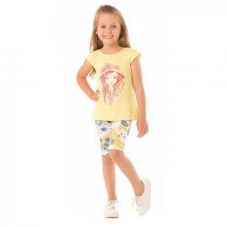Conjunto Infantil Menina Livy Boneca Chapéu Girl Bermuda 31803