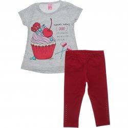 Conjunto Infantil Menina Livy Cupcake Capri Strass 31802