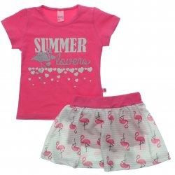 Conjunto Infantil Menina Livy Saia Shorts Summer Lovers 31805