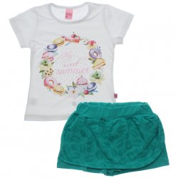 Conjunto Infantil Menina Livy Saia Shorts Sweet Summer 31804