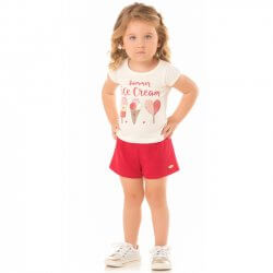 Conjunto Infantil Menina Livy Summer Icecream 31796
