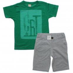 Conjunto Infantil Menino Colorittá Camista CRT e Bermuda Moletinho 31617